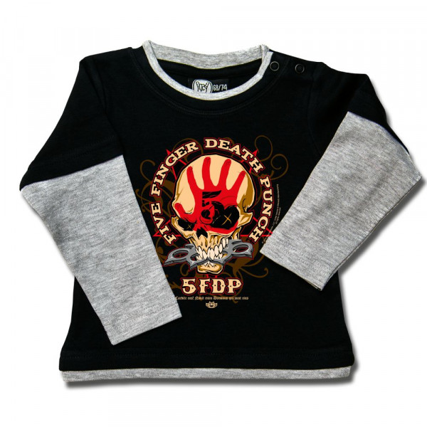 Five Finger Death Punch (Knucklehead) Baby Skater Shirt mit Aufdruck in multicolor auf Metal-Kids Markenware