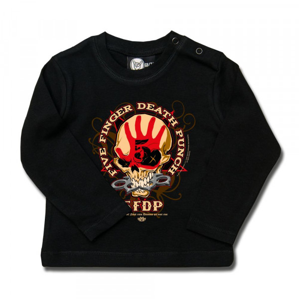 Five Finger Death Punch (Knucklehead) Baby Longsleeve mit Aufdruck in multicolor auf Metal-Kids Markenware