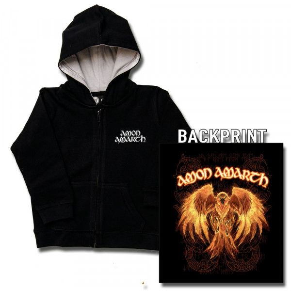 Amon Amarth (Burning Eagle) Kids Kapuzenjacke mit Aufdruck in multicolor auf Metal-Kids Markenware