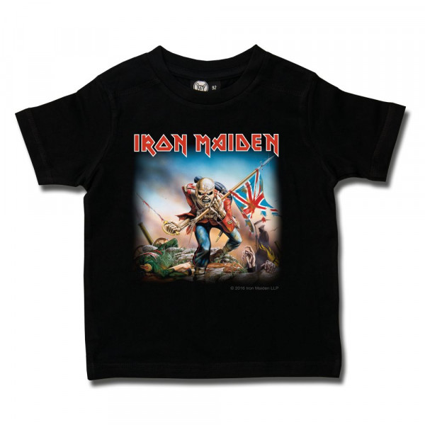 Iron Maiden (Trooper) Kids T-Shirt mit Aufdruck in multicolor auf Metal-Kids Markenware