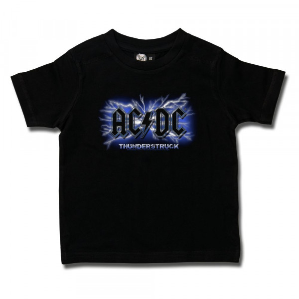 AC/DC (Thunderstruck) Kids T-Shirt mit Aufdruck in multicolor auf Metal-Kids Markenware