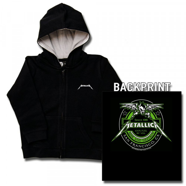 Metallica (Fuel) Baby Kapuzenjacke mit Aufdruck in multicolor auf Metal-Kids Markenware