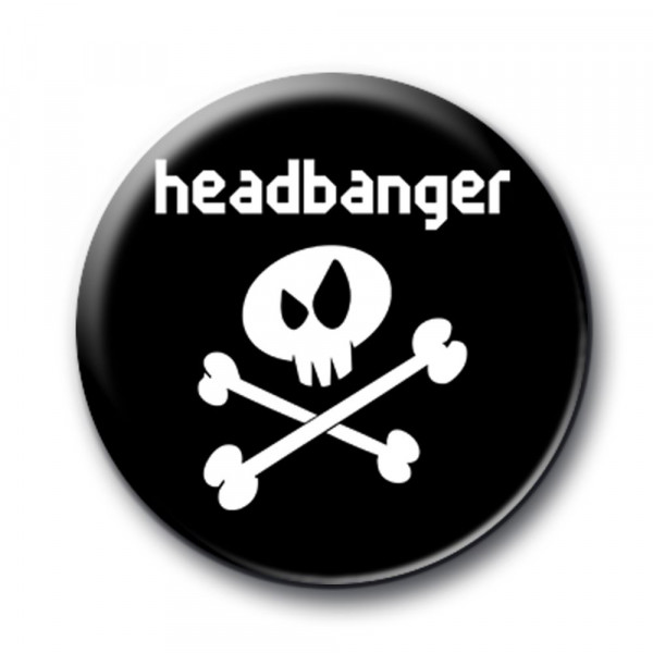 headbanger - Button