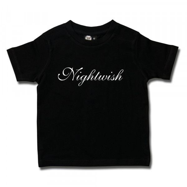 Nightwish (Logo) Kids T-Shirt mit Aufdruck in weiß auf Metal-Kids Markenware