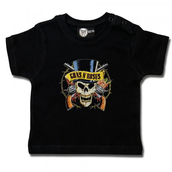 Guns 'n Roses (TopHat) Baby T-Shirt mit Aufdruck in multicolor auf Metal-Kids Markenware