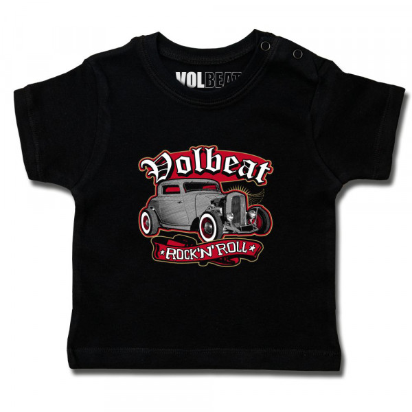 Volbeat (Rock 'n Roll) Baby T-Shirt mit Aufdruck in multicolor auf Metal-Kids Markenware
