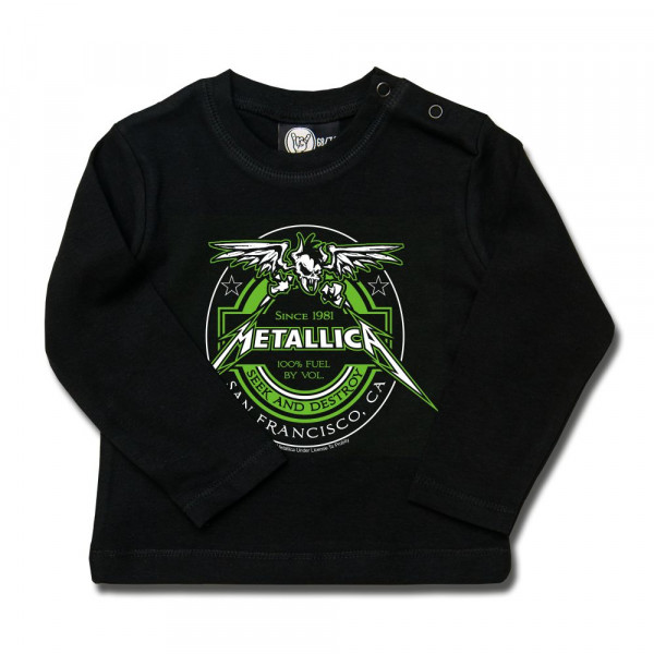 Metallica (Fuel) Baby Longsleeve mit Aufdruck in multicolor auf Metal-Kids Markenware