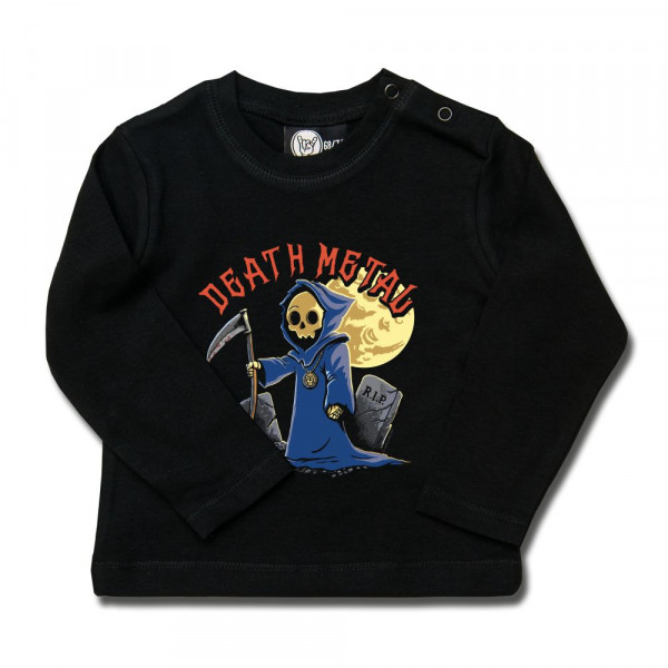 Death Metal Baby Longsleeve mit Aufdruck in multicolor auf Metal-Kids Markenware