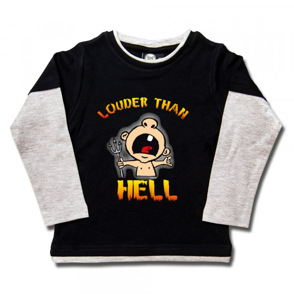 louder than hell Kids Skater Shirt mit Aufdruck in multicolor auf Metal-Kids Markenware