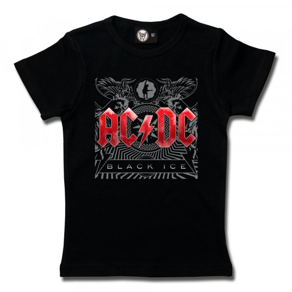 AC/DC (Black Ice) Girly Shirt mit Aufdruck in multicolor auf Metal-Kids Markenware