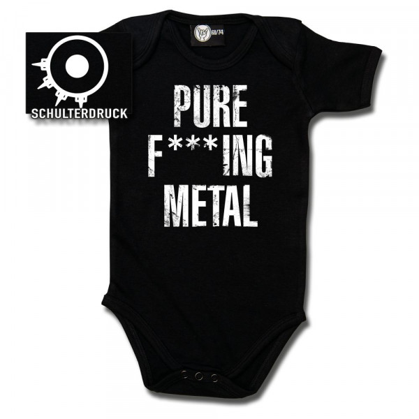 Arch Enemy (Pure F***ing Metal) Baby Body mit Aufdruck in weiß auf Metal-Kids Markenware