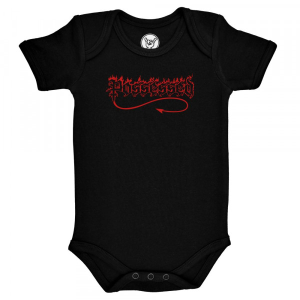 Possessed (Logo) Baby Body mit Aufdruck in rot auf Metal-Kids Markenware