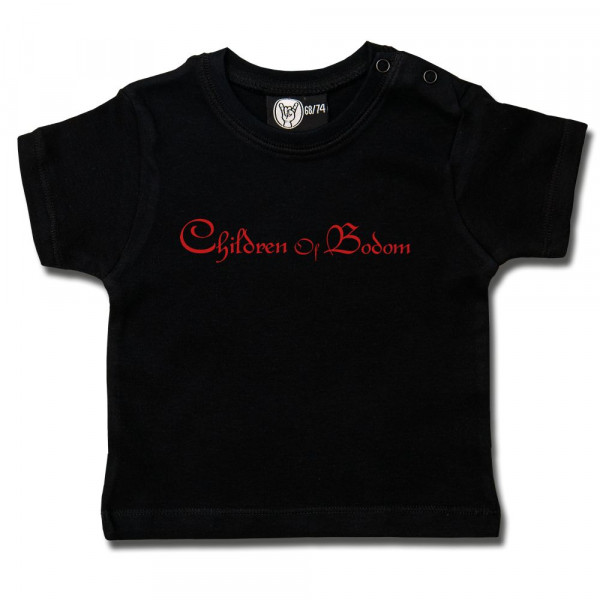 Children of Bodom (Logo) Baby T-Shirt mit Aufdruck in rot auf Metal-Kids Markenware