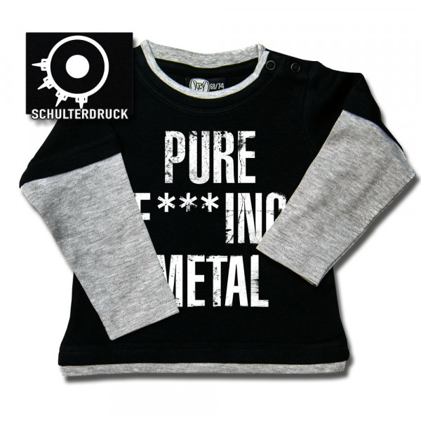 Arch Enemy (Pure F***ing Metal) Baby Skater Shirt mit Aufdruck in weiß auf Metal-Kids Markenware