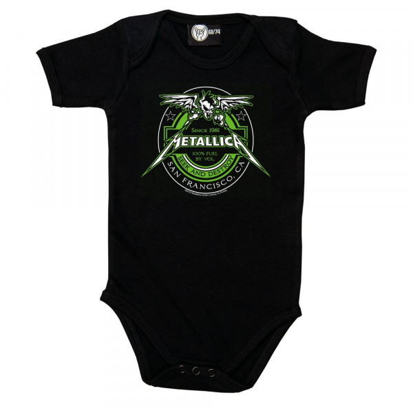 Metallica (Fuel) Baby Body mit Aufdruck in multicolor auf Metal-Kids Markenware