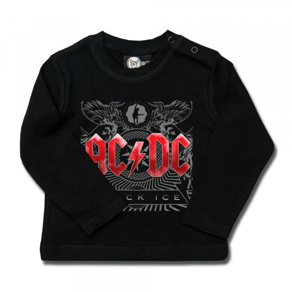 AC/DC (Black Ice) Baby Longsleeve mit Aufdruck in multicolor auf Metal-Kids Markenware