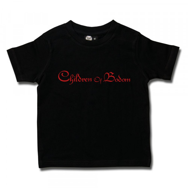 Children of Bodom (Logo) Kids T-Shirt mit Aufdruck in rot auf Metal-Kids Markenware