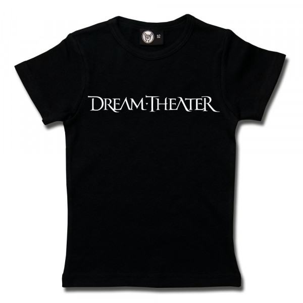 Dream Theater (Logo) Girly Shirt mit Aufdruck in weiß auf Metal-Kids Markenware