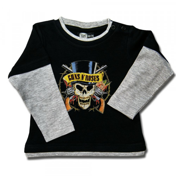 Guns 'n Roses (TopHat) Baby Skater Shirt mit Aufdruck in multicolor auf Metal-Kids Markenware