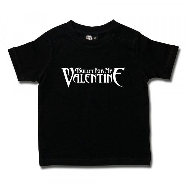 Bullet For My Valentine (Logo) Kids T-Shirt mit Aufdruck in weiß auf Metal-Kids Markenware