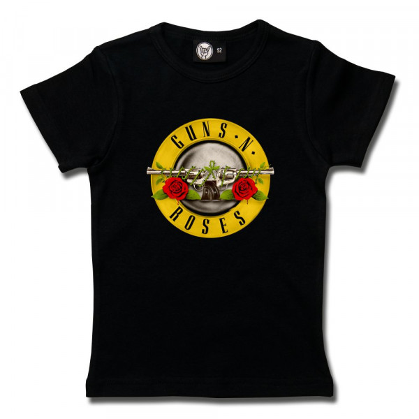 Guns 'n Roses (Bullet') Girly Shirt mit Aufdruck in multicolor auf Metal-Kids Markenware