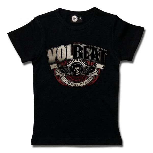Volbeat (SkullWing Boogie) Girly Shirt mit Aufdruck in multicolor auf Metal-Kids Markenware