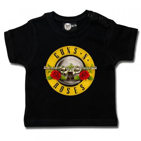 Guns 'n Roses (Bullet') Baby T-Shirt mit Aufdruck in multicolor auf Metal-Kids Markenware