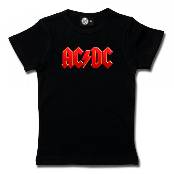 AC/DC (Logo, multi-col.) Girly Shirt mit Aufdruck in multicolor auf Metal-Kids Markenware