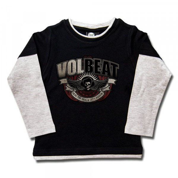 Volbeat (SkullWing Boogie) Kids Skater Shirt mit Aufdruck in multicolor auf Metal-Kids Markenware