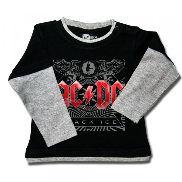 AC/DC (Black Ice) Baby Skater Shirt mit Aufdruck in multicolor auf Metal-Kids Markenware