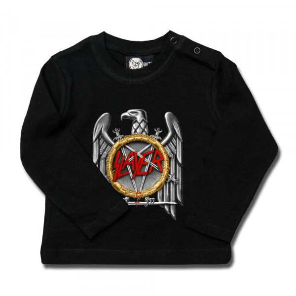 Slayer (Silver Eagle) Baby Longsleeve mit Aufdruck in multicolor auf Metal-Kids Markenware