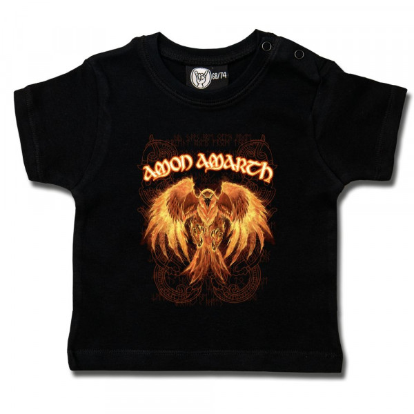 Amon Amarth (Burning Eagle) Baby T-Shirt mit Aufdruck in multicolor auf Metal-Kids Markenware