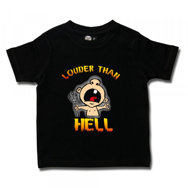 louder than hell Kids T-Shirt mit Aufdruck in multicolor auf Metal-Kids Markenware