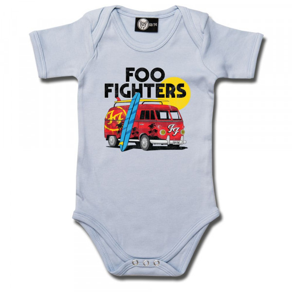 Foo Fighters (Van) Baby Body mit Aufdruck in multicolor auf Metal-Kids Markenware