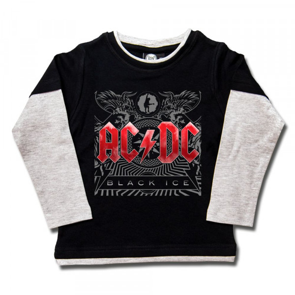 AC/DC (Black Ice) Kids Skater Shirt mit Aufdruck in multicolor auf Metal-Kids Markenware