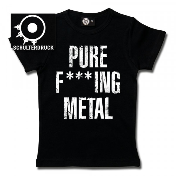 Arch Enemy (Pure F***ing Metal) Girly Shirt mit Aufdruck in weiß auf Metal-Kids Markenware