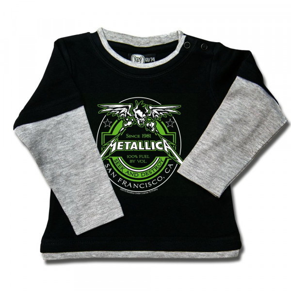 Metallica (Fuel) Baby Skater Shirt mit Aufdruck in multicolor auf Metal-Kids Markenware