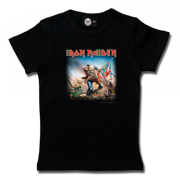 Iron Maiden (Trooper) Girly Shirt mit Aufdruck in multicolor auf Metal-Kids Markenware