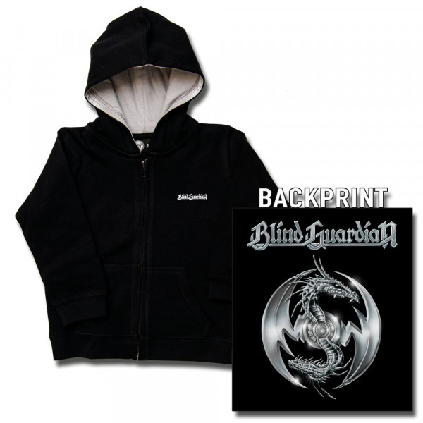 Blind Guardian (Silverdragon) Kids Kapuzenjacke mit Aufdruck in multicolor auf Metal-Kids Markenware
