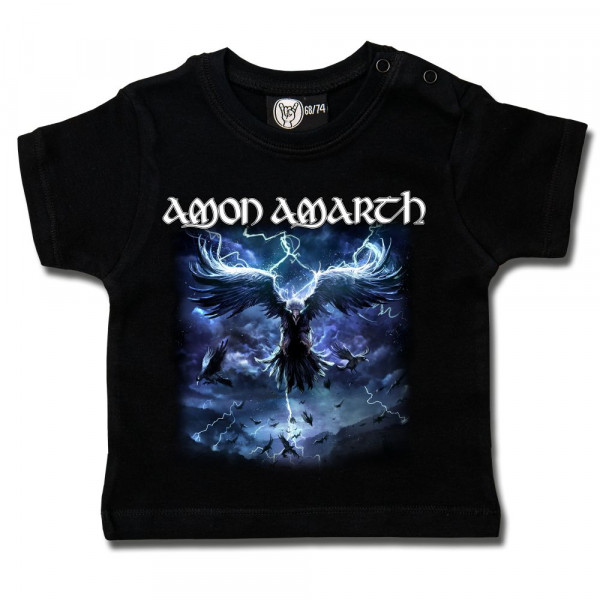 Amon Amarth (Raven's Flight) Baby T-Shirt mit Aufdruck in multicolor auf Metal-Kids Markenware