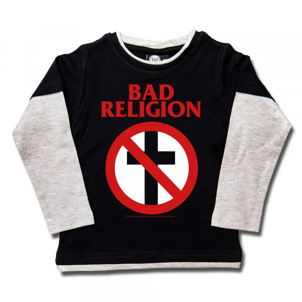 Bad Religion (Cross Buster) Kids Skater Shirt mit Aufdruck in rot/weiß auf Metal-Kids Markenware