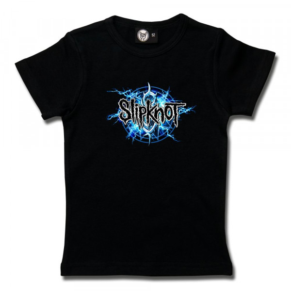 Slipknot (Electric Blue) Girly Shirt mit Aufdruck in multicolor auf Metal-Kids Markenware