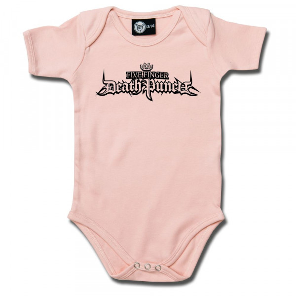 Five Finger Death Punch (Logo) Baby Body mit Aufdruck in schwarz auf Metal-Kids Markenware