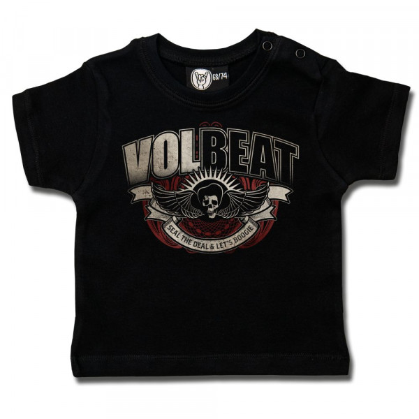 Volbeat (SkullWing Boogie) Baby T-Shirt mit Aufdruck in multicolor auf Metal-Kids Markenware