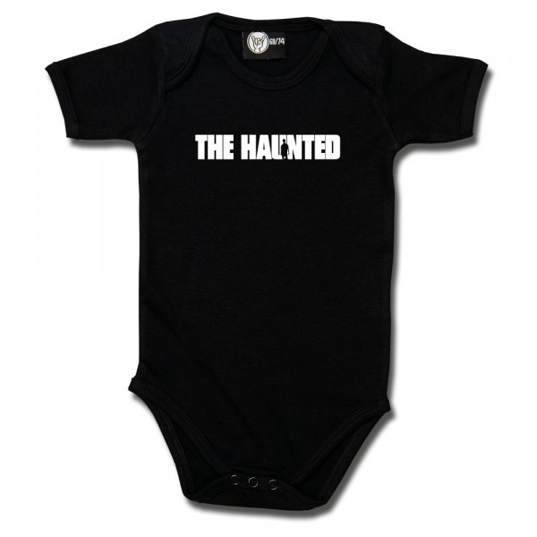 The Haunted (Logo) Baby Body mit Aufdruck in weiß auf Metal-Kids Markenware
