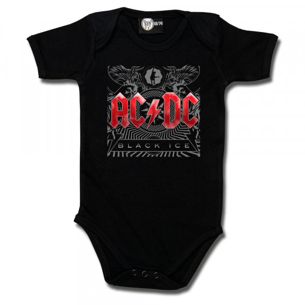 AC/DC (Black Ice) Baby Body mit Aufdruck in multicolor auf Metal-Kids Markenware