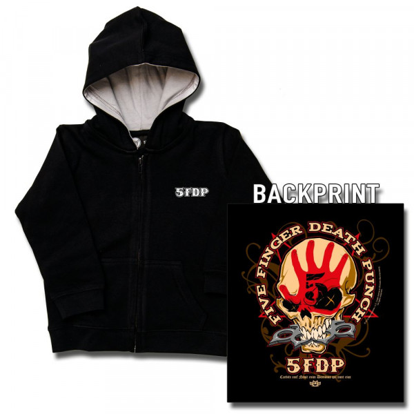 Five Finger Death Punch (Knucklehead) Kids Kapuzenjacke mit Aufdruck in multicolor auf Metal-Kids Markenware