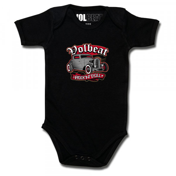 Volbeat (Rock 'n Roll) Baby Body mit Aufdruck in multicolor auf Metal-Kids Markenware