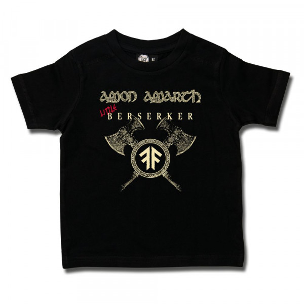 Amon Amarth (Little Berserker) Kids T-Shirt mit Aufdruck in Elfenbein/rot auf Metal-Kids Markenware