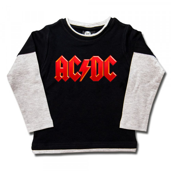 AC/DC (Logo, multi-col.) Kids Skater Shirt mit Aufdruck in multicolor auf Metal-Kids Markenware